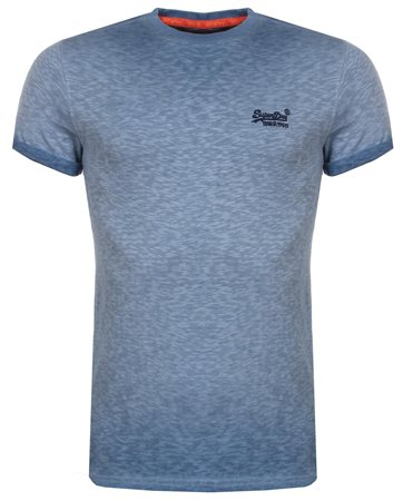 Superdry Harrington Navy Low Roller Tee  - Click to view a larger image
