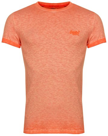 Superdry Hyper Pop Orange Low Roller Tee  - Click to view a larger image