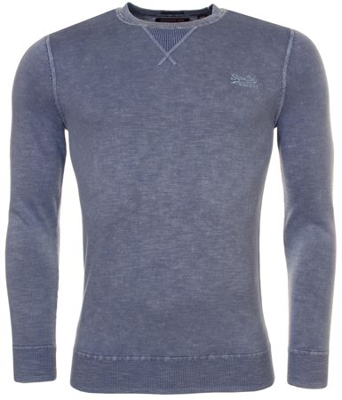 Superdry Sunbleached Blue La Crew Sweater  - Click to view a larger image