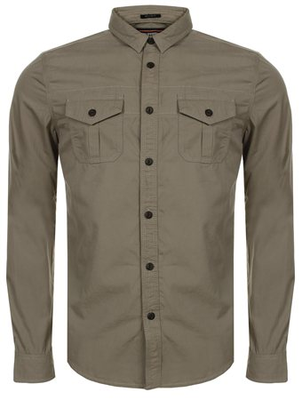 Superdry Sahara Stone Rookie Shirt  - Click to view a larger image
