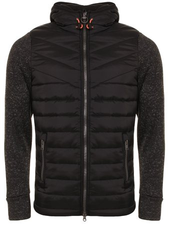 Superdry Gritiy Black Hybrid Jacket  - Click to view a larger image