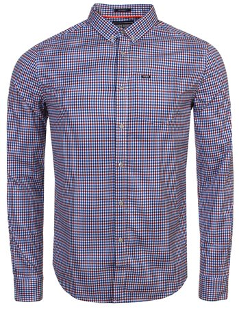 Superdry Blue Gingham University Oxford Shirt  - Click to view a larger image