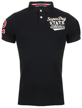 Superdry Total Eclipse Classic Superstate Polo  - Click to view a larger image