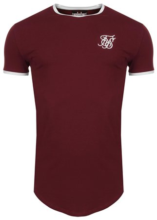 Siksilk Burgandy Hertiage Gym Tee  - Click to view a larger image