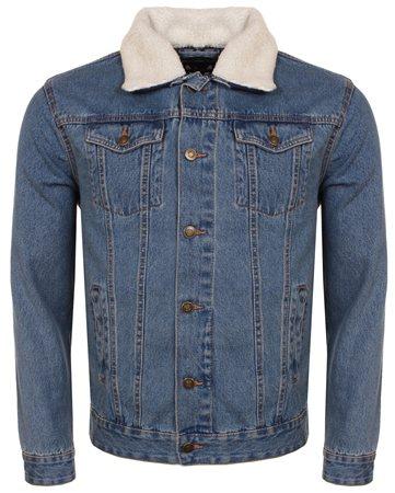 Brave Soul Light Stone Wash Denim Jacket  - Click to view a larger image