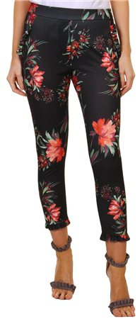 Missi Lond Black Printed Trouser  - Click to view a larger image