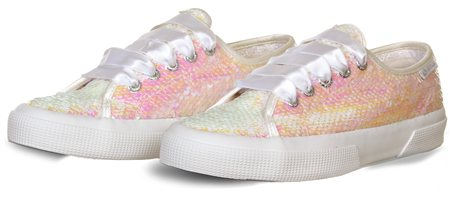 Superga White Iridescent Trainer  - Click to view a larger image