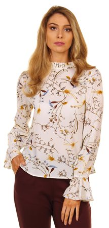 Style London Cream Frill Blouse  - Click to view a larger image