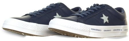 Converse Navy/Dried Bamboo/White One Star Ox  - Click to view a larger image