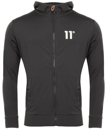 11degrees Smoke Poly Zip Hood  - Click to view a larger image