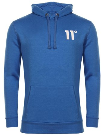 11degrees Cobalt Blue Core Overhead Hoody  - Click to view a larger image