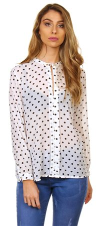 Style London Cream Polka Dot Blouse  - Click to view a larger image