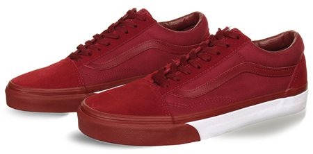 Vans Cabernet-White Bumper Old Skool Shoes  - Click to view a larger image