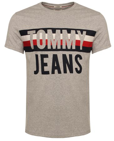 Hilfiger Denim Heather Grey Tee  - Click to view a larger image