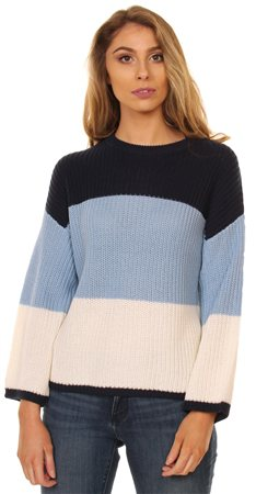 Brave Soul Multi Stripe Knit Sweat  - Click to view a larger image