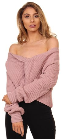 Missi Lond Rose Twist Jumper  - Click to view a larger image
