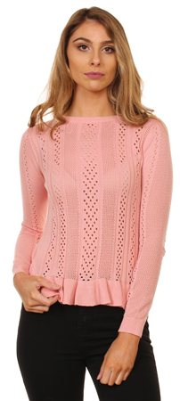 Gemini Pink Ruffle Jumper  - Click to view a larger image