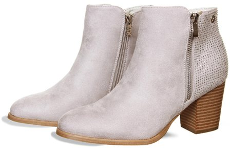 Xti Grey Ankle Boot  - Click to view a larger image