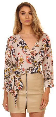 Only Moonbeam & Keen Flower Wrap Blouse  - Click to view a larger image