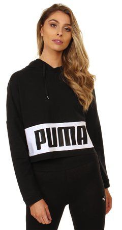 Puma Cotton Black Urban Sports Hoody  - Click to view a larger image