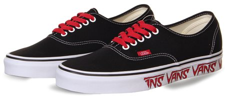 93e337a92a2 Vans Black-Red Sketch Sidewall Authentic Shoes - Click to view a larger  image