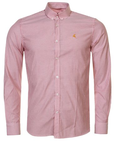 Ottomoda Red Stripe Shirt  - Click to view a larger image