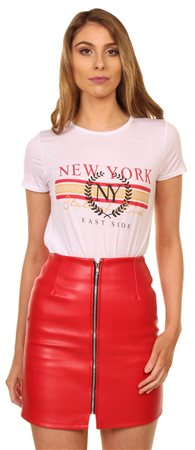 Missi Lond White New York Tee  - Click to view a larger image