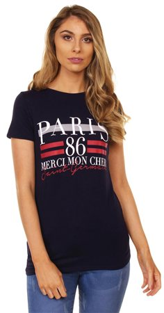 Missi Lond Navy Paris Tee  - Click to view a larger image