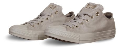 Converse Pale Grey/Gold Chuck Taylor All Star Mono Glam  - Click to view a larger image