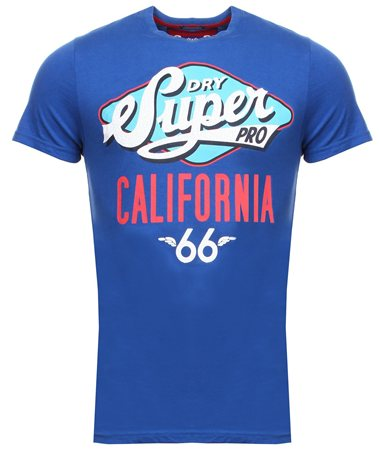 Superdry Hyper Cobalt Reworked Classic Printed T-Shirt  - Click to view a larger image
