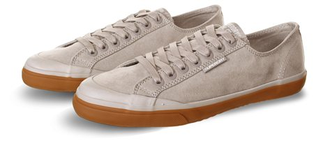 Superdry Dove Grey Low Pro Deluxe Sneakers  - Click to view a larger image