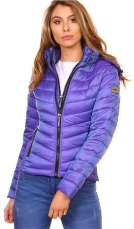 Superdry Iridescent Amethyst Lux Chevron Fuji Jacket  - Click to view a larger image