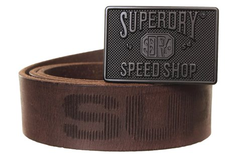 Superdry Dark Brown Eastern Belt  - Click to view a larger image