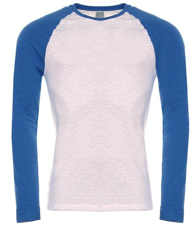 Jack Wills Blue Audley Long Sleeve T-Shirt  - Click to view a larger image