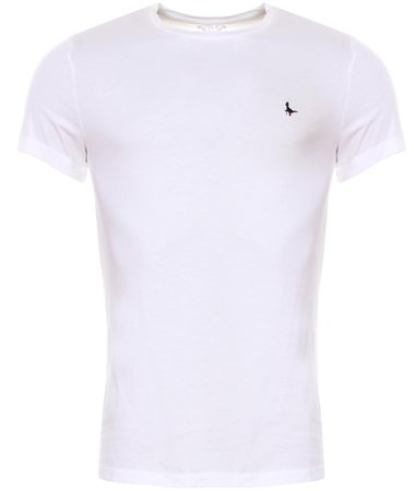 Jack Wills White Sandleford Basic Short Sleeve T-Shirt  - Click to view a larger image