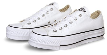 Converse White/Black/White Chuck Taylor All Star Lift  - Click to view a larger image