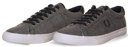 Fred Perry Graphite Textured Trainer  - Click to view a larger image