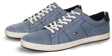 Hilfiger Denim Jeans Blue Denim Sneaker  - Click to view a larger image