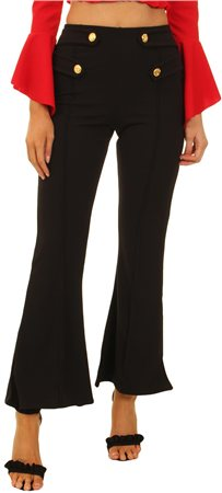 Parisian Black Flared Trouser  - Click to view a larger image