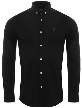 Alex & Turner Black Plain Shirt  - Click to view a larger image