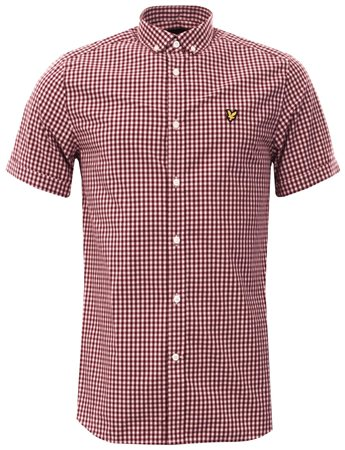 Lyle & Scott Claret Gingham Shirt  - Click to view a larger image