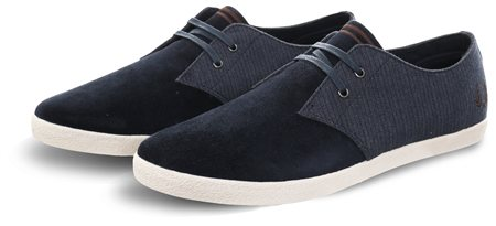 Fred Perry Navy Low Bedford Cord Trainer  - Click to view a larger image