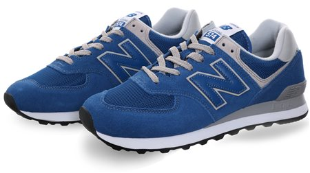 New Balance Classic Blue Modern Classic Trainer  - Click to view a larger image