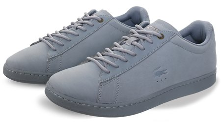 Lacoste Light Blue Carnaby Evo Trainer  - Click to view a larger image