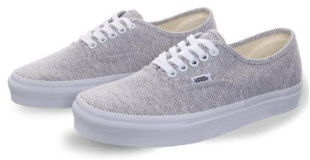 Vans Grey-True White Authentic Jersey Shoes  - Click to view a larger image