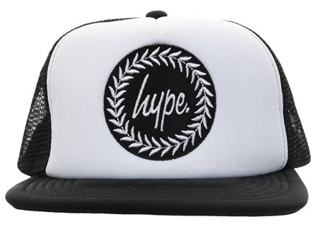 Hype White/Back Baseball Cap  - Click to view a larger image