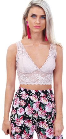 7afe0d798fb59 Only Rose Smoke Chloe Lace Bralette - Click to view a larger image
