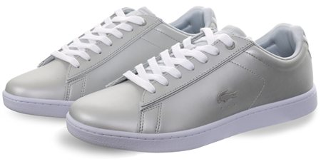 4d2eedfb7 Lacoste Grey White Carnaby Evo 118 Trainers