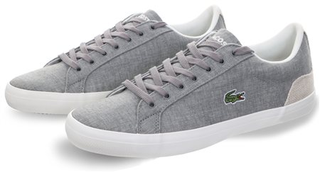 Lacoste Grey/Natural 218 Lerond Trainer  - Click to view a larger image