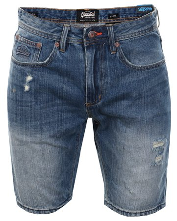 Superdry Quarry Used Officer Slim Shorts  - Click to view a larger image